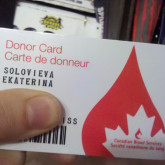 Donor Card, And Bleeding On Purpose