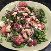 188 days – WOD + watermelon goat cheese salad!!!