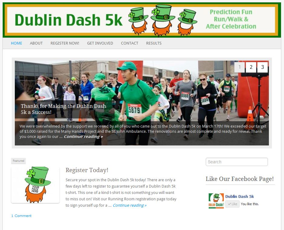 Dublin Dash 5K website